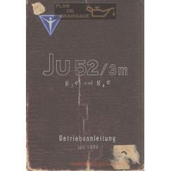 Flugzeug Handbuch Ju 52 Betriebsanleitung 1939 Bmw Motor 132a