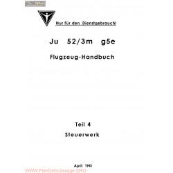 Flugzeug Handbuch Ju 52 Teil 4 Steuerwerk 1941