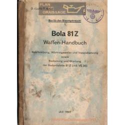 General Bola 81 Z 1941 Handbuch