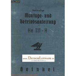 Heinkel H 111 H Instructions De Pre Montage Et D Utilisation