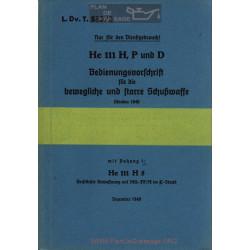 Heinkel He 111 H P D Instructions D Utilisation