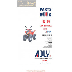 Adly 100 V 186a Parts List