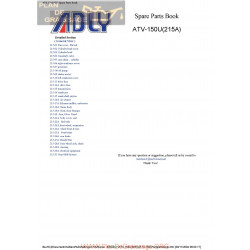 Adly 150 215a Parts List