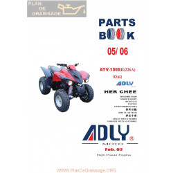 Adly 150 S Ii 226a 2005 2006 Parts List