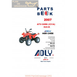 Adly 50 Rs 231a 2007 Parts List