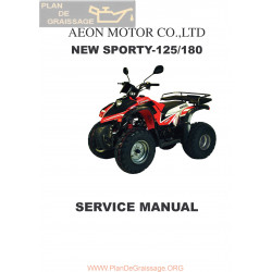 Aeon New Sporty 125 180 Manual De Reparatie