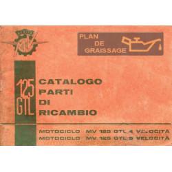 Agusta Mv Cat Parti Di Ricambio Mv 125 G.t.l.