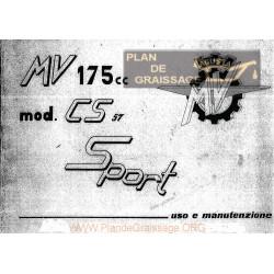 Agusta Mv Uso E Manutenzione Mv 175 Cs Sport