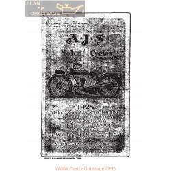 Ajs 1925 E3 E4 E5 Manual De Intretinere