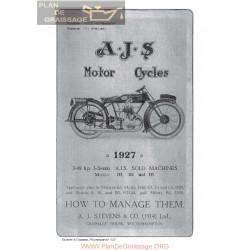 Ajs 1927 H3 H4 H5 Manual De Intretinere