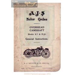Ajs 1928 K7 K10 Ohc Manual De Intretinere