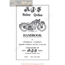 Ajs 1933 33 7 Ohc Manual De Intretinere