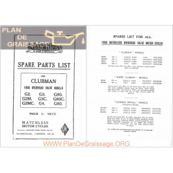 Ajs 1938 Ohv Models Parts List