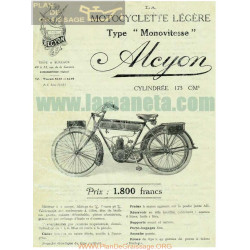 Alcyon Type Movitesse 175cc 1923 Manual Entretenimiento