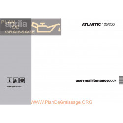 Aprilia Atlantic 125 200 2003 Owners Manual De Intretinere