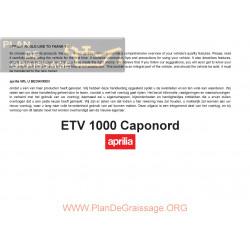 Aprilia Etv 1000 Caponord 2007 Manual De Intretinere