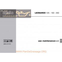 Aprilia Leonardo 125 150 250 2003 Manual De Intretinere