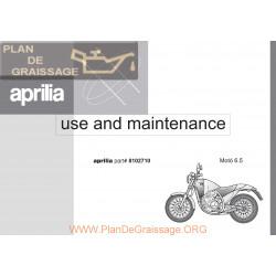 Aprilia Moto 6 5 1995 Manual De Intretinere