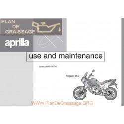 Aprilia Pegaso 650 1996 Manual De Intretinere