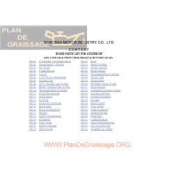 Barossa Silverhawk 250 E1rf Parts List