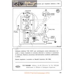 Benelli 125cc Leoncino Schema Elec 1954