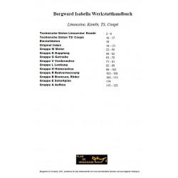 Borgward Isabella G1 Manuel De Reparation