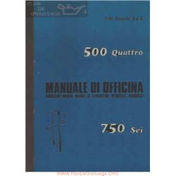 Benelli 500 Quattro Y 750 Sei Manual De Fabrica De Taller Italiano