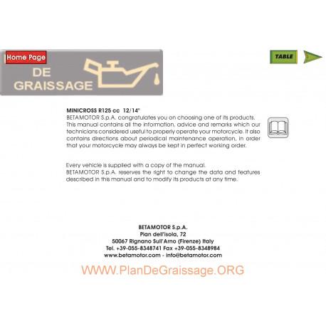 Beta R125 Minicross Manual De Reparatie