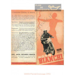 Bianchi 250cc 500cc Catalogue Moto Cycles 1935