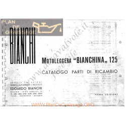 Bianchi Bianchina 125cc Catalogue Spare