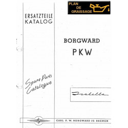 Borgward Isabella Index G1 Ersatzteilkatalog