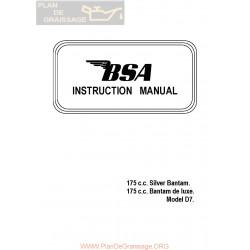 Bsa 175 D7 Bantam Silver Manual