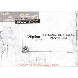 Bultaco Alpina 250 350 Mod 212 213 Despiece