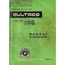 Bultaco Brinco Mod 108 Manual Instrucciones