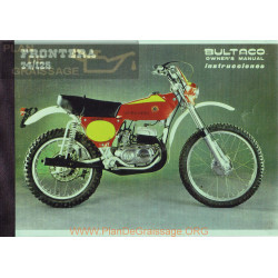 Bultaco Frontera 74 Mod 174 125 Mod 186 Manual Usuario