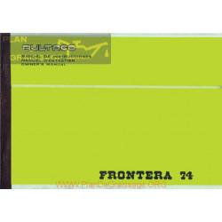 Bultaco Frontera 74 Mod 174 B Manual Uusario
