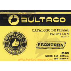 Bultaco Frontera Mk9 Mod 152 250cc Mod 143 370cc Despiece