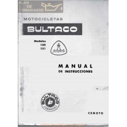 Bultaco Junior 74 Gt2 125 Gt2 Mod 130 131 Manual Instrucciones