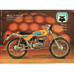 Bultaco Lobito 74 125 175 Mk7 Mod 126 127 128 1974 Manual Usuario