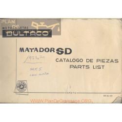 Bultaco Matador Sd Mod 82 Y 107 Despiece