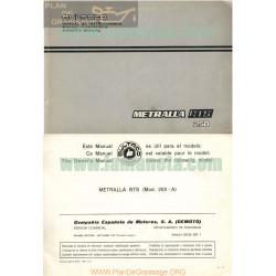Bultaco Metralla 250 Gts Manual De Instrucciones
