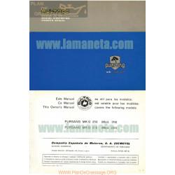 Bultaco Pursang Mk 12 250 Cc Y 370cc Manual De Instrucciones