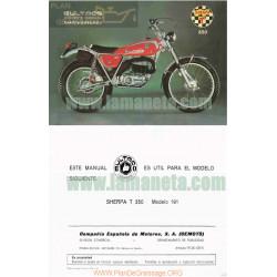 Bultaco Sherpa 350 Cc Manual De Instrucciones
