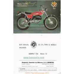 Bultaco Sherpa T 350 Mod 191 Manual Usuario