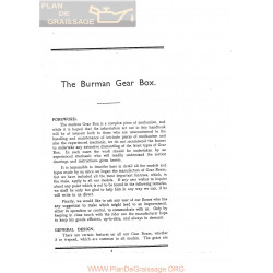 Burman Caja Cambio 1927 1937 Ingles
