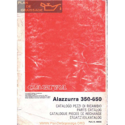 Cagiva 350 650 Alazzurra Parts List