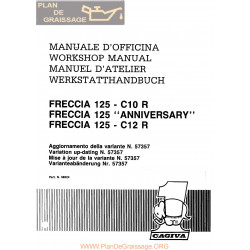 Cagiva Freccia 125 C10r C12r Anniversary 1989 Manual De Reparatie