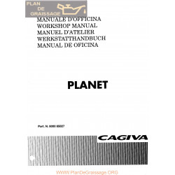 Cagiva Planet 1997 Manual De Reparatie