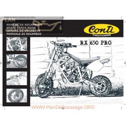 Conti Rx 650 Pro Parts List