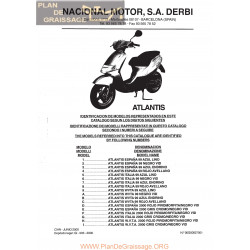 Derbi Atlantis Aire 1999 2000 Parts List